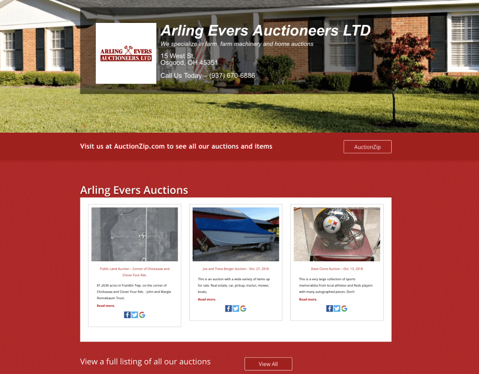 arling evers auctioneers ltd